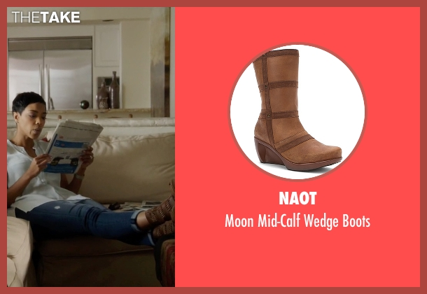 Naot brown boots from Ballers seen with Julie Greane (Jazmyn Simon)