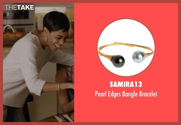 Samira13 gold bracelet from Ballers seen with Julie Greane (Jazmyn Simon)