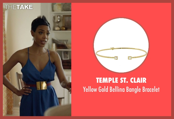 Temple St. Clair gold bracelet from Ballers seen with Julie Greane (Jazmyn Simon)