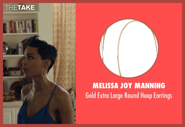 Melissa Joy Manning gold earrings from Ballers seen with Julie Greane (Jazmyn Simon)
