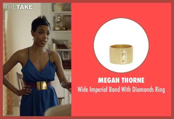 Megan Thorne gold ring from Ballers seen with Julie Greane (Jazmyn Simon)
