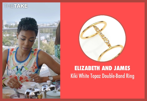 Elizabeth And James gold ring from Ballers seen with Julie Greane (Jazmyn Simon)