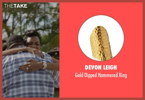 Devon Leigh gold ring from Ballers seen with Julie Greane (Jazmyn Simon)