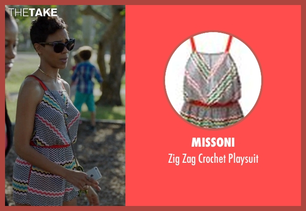 Missoni playsuit from Ballers seen with Julie Greane (Jazmyn Simon)