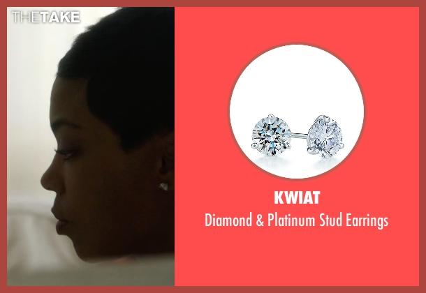 Kwiat silver earrings from Ballers seen with Julie Greane (Jazmyn Simon)