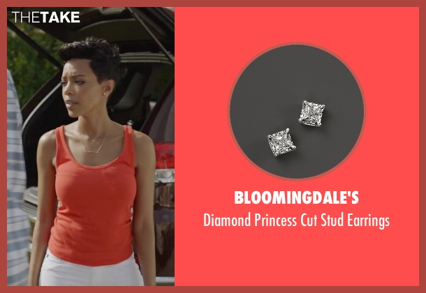 Bloomingdale's silver earrings from Ballers seen with Julie Greane (Jazmyn Simon)