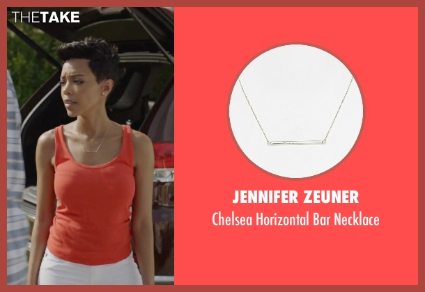 Jennifer Zeuner silver necklace from Ballers seen with Julie Greane (Jazmyn Simon)