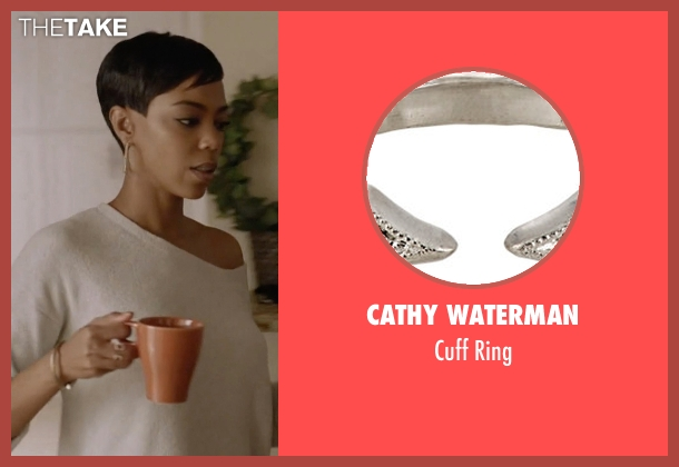 Cathy Waterman silver ring from Ballers seen with Julie Greane (Jazmyn Simon)