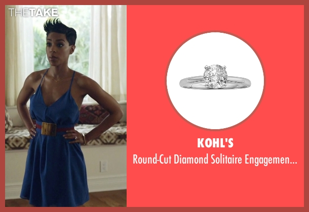 Kohl's silver ring from Ballers seen with Julie Greane (Jazmyn Simon)