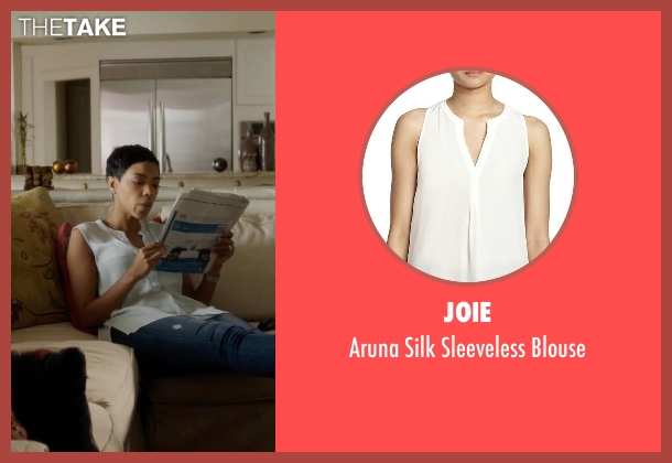 Joie white blouse from Ballers seen with Julie Greane (Jazmyn Simon)