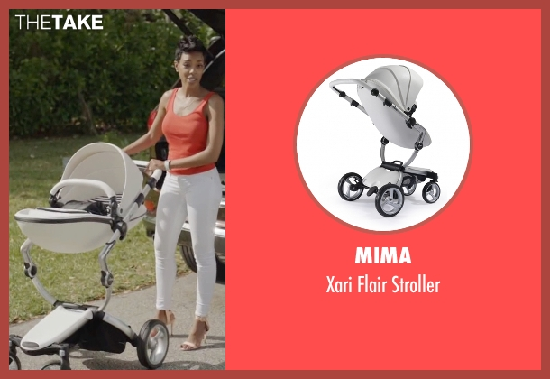 Mima white stroller from Ballers seen with Julie Greane (Jazmyn Simon)