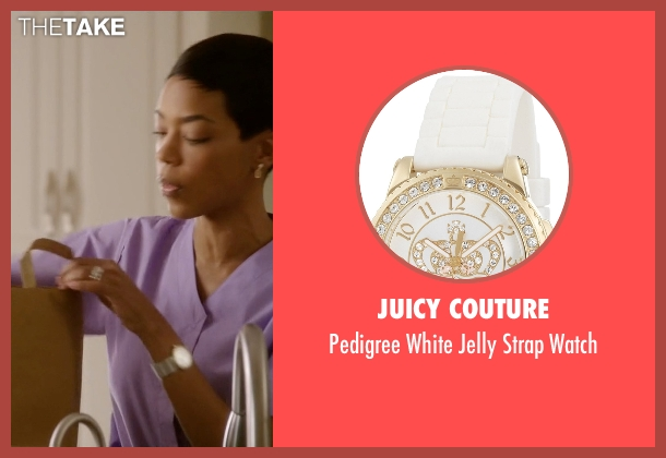 Juicy Couture white watch from Ballers seen with Julie Greane (Jazmyn Simon)