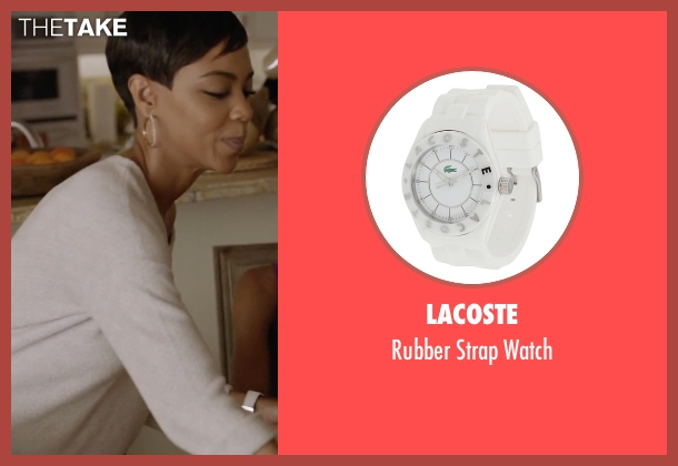 Lacoste white watch from Ballers seen with Julie Greane (Jazmyn Simon)