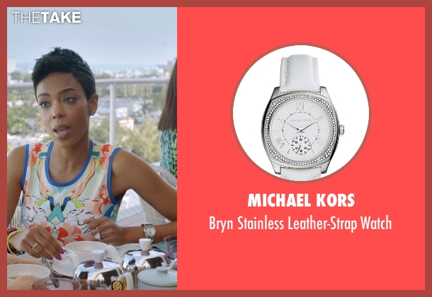 Michael Kors white watch from Ballers seen with Julie Greane (Jazmyn Simon)
