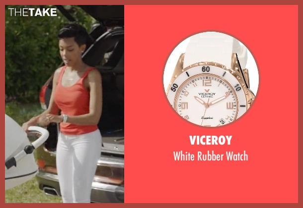 Viceroy white watch from Ballers seen with Julie Greane (Jazmyn Simon)