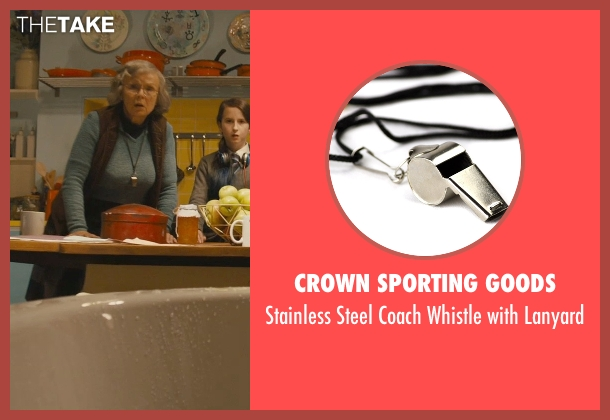 Crown Sporting Goods lanyard from Paddington seen with Julie Walters (Mrs. Bird)
