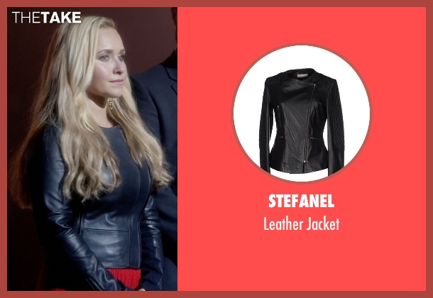 Stefanel black jacket from Nashville seen with Juliette Barnes (Hayden Panettiere)