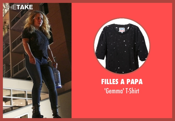Filles A Papa black t-shirt from Nashville seen with Juliette Barnes (Hayden Panettiere)