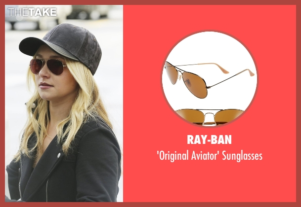 Ray-Ban brown sunglasses from Nashville seen with Juliette Barnes (Hayden Panettiere)