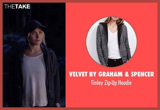 Velvet By Graham & Spencer gray hoodie from Nashville seen with Juliette Barnes (Hayden Panettiere)