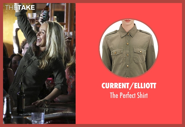 Current/Elliott green shirt from Nashville seen with Juliette Barnes (Hayden Panettiere)