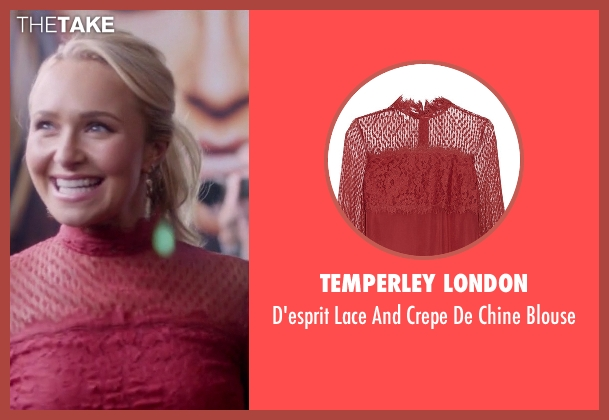 Temperley London red blouse from Nashville seen with Juliette Barnes (Hayden Panettiere)