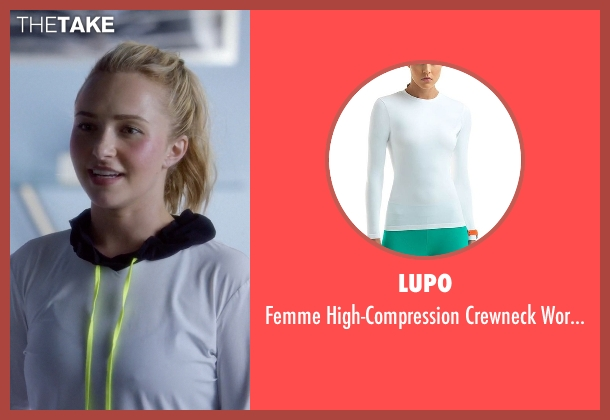 Lupo white tee from Nashville seen with Juliette Barnes (Hayden Panettiere)