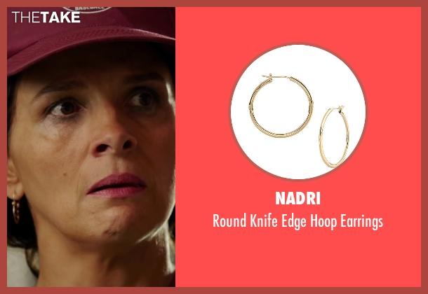 Nadri gold earrings from The 33 seen with Juliette Binoche (María Segovia)