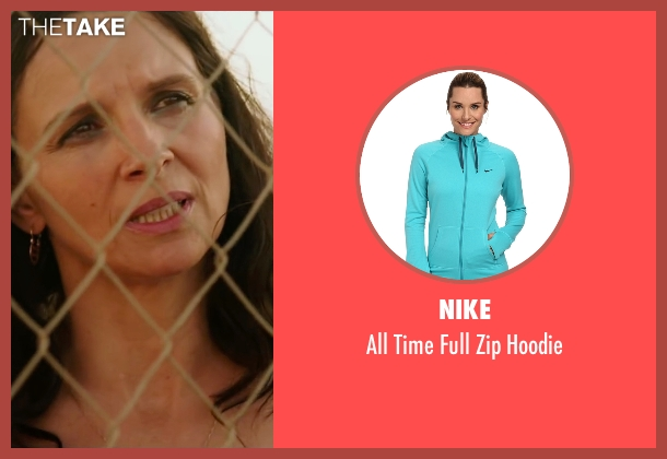 Nike green hoodie from The 33 seen with Juliette Binoche (María Segovia)