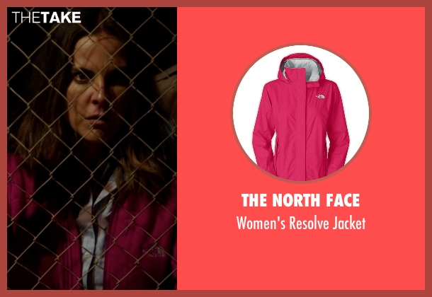 The North Face pink jacket from The 33 seen with Juliette Binoche (María Segovia)