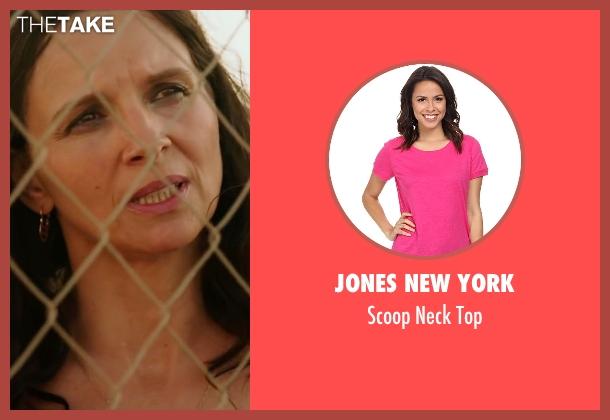 Jones New York pink top from The 33 seen with Juliette Binoche (María Segovia)