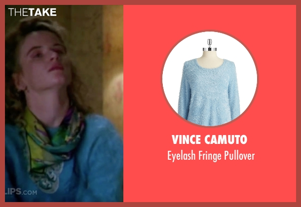 Vince Camuto blue pullover from Christmas Vacation seen with Juliette Lewis (Audrey)