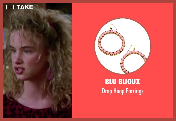 Blu Bijoux pink earrings from Christmas Vacation seen with Juliette Lewis (Audrey)