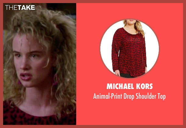 Michael Kors red top from Christmas Vacation seen with Juliette Lewis (Audrey)