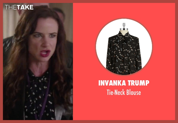Invanka Trump black blouse from Jem and the Holograms seen with Juliette Lewis (Erica Raymond)