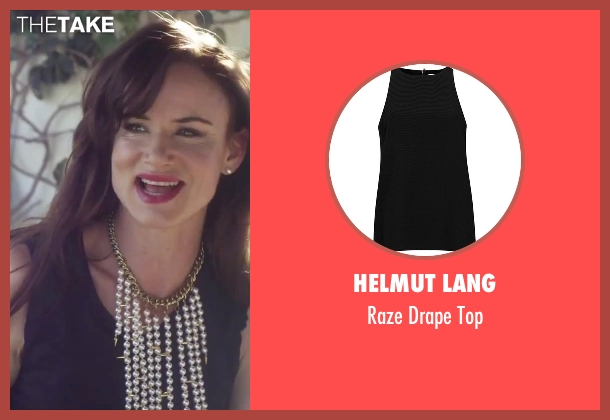 Helmut Lang black top from Jem and the Holograms seen with Juliette Lewis (Erica Raymond)