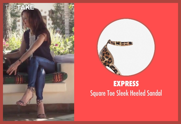 Express brown sandal from Jem and the Holograms seen with Juliette Lewis (Erica Raymond)