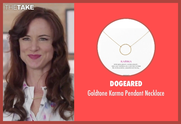 Dogeared gold necklace from Jem and the Holograms seen with Juliette Lewis (Erica Raymond)