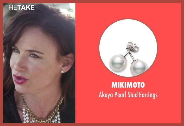 Mikimoto white earrings from Jem and the Holograms seen with Juliette Lewis (Erica Raymond)
