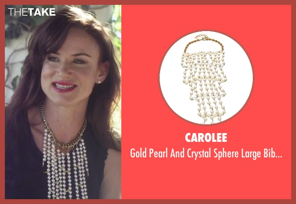 Carolee white necklace from Jem and the Holograms seen with Juliette Lewis (Erica Raymond)