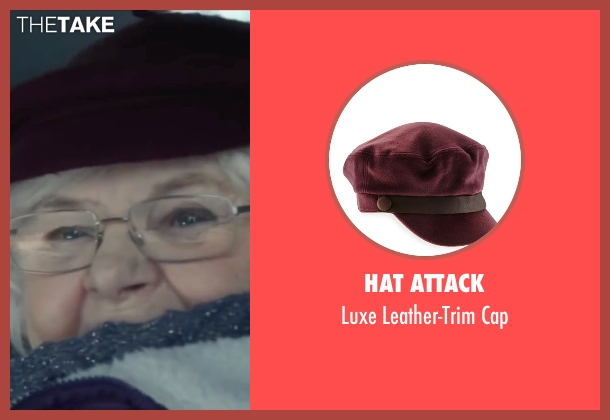 Hat Attack red cap from Love the Coopers seen with June Squibb (Aunt Fishy)