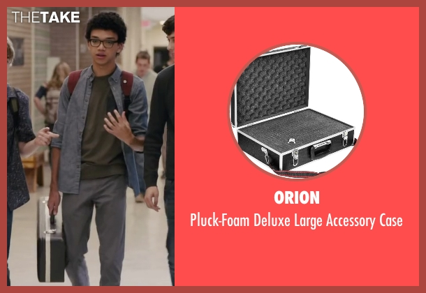 Orion black case from Paper Towns seen with Justice Smith (Radar)