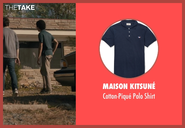 Maison Kitsuné blue shirt from Paper Towns seen with Justice Smith (Radar)