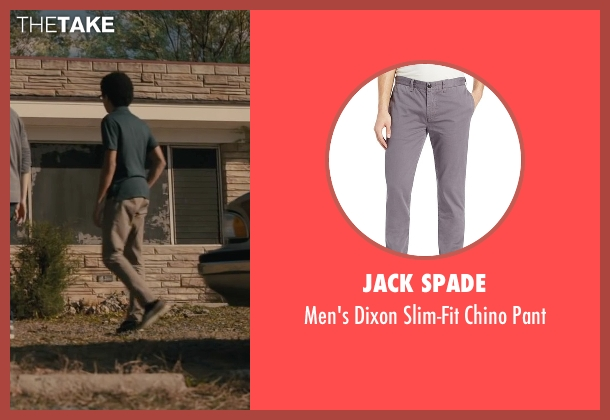 Jack Spade gray pant from Paper Towns seen with Justice Smith (Radar)