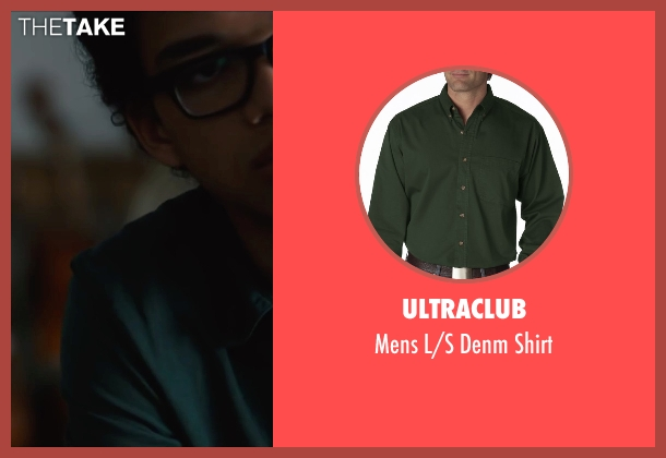 Ultraclub green shirt from Paper Towns seen with Justice Smith (Radar)