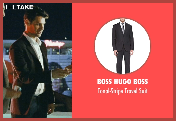 Boss Hugo Boss black suit from The Hangover seen with Justin Bartha (Doug)