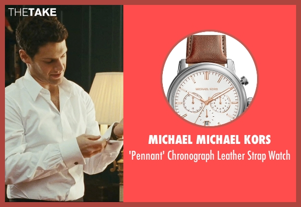 MICHAEL Michael Kors brown watch from The Hangover seen with Justin Bartha (Doug)