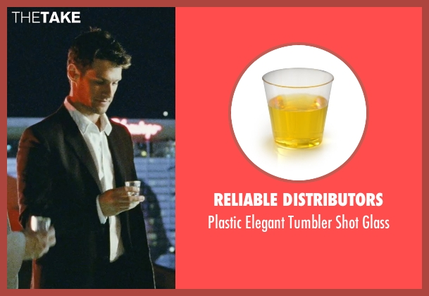 Reliable Distributors glass from The Hangover seen with Justin Bartha (Doug)