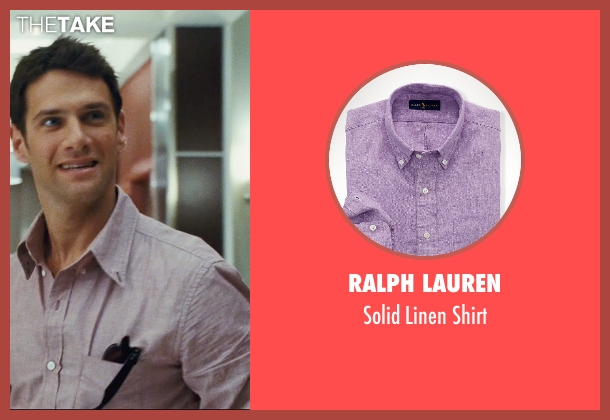 Ralph Lauren purple shirt from The Hangover seen with Justin Bartha (Doug)