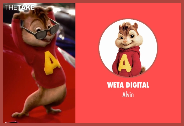 Weta Digital alvin from Alvin and the Chipmunks: The Road Chip seen with Justin Long (Alvin (voice))